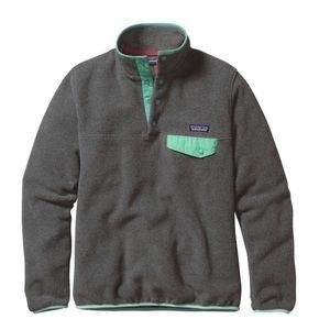 Patagonia White/Cream Synchilla Jacket size small